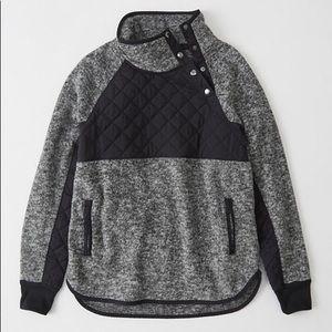 {Abercrombie & Fitch} Asymmetrical Snap Up Fleece